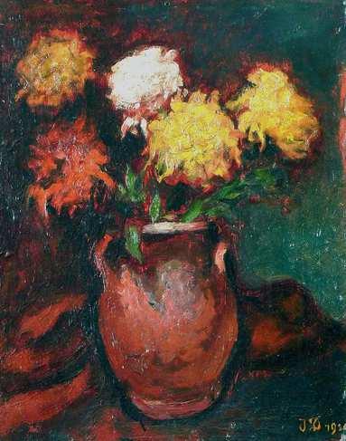 Dobrowsky, Blumen in bauchiger Vase II, ©Kunsthandel-GieseUndSchweiger